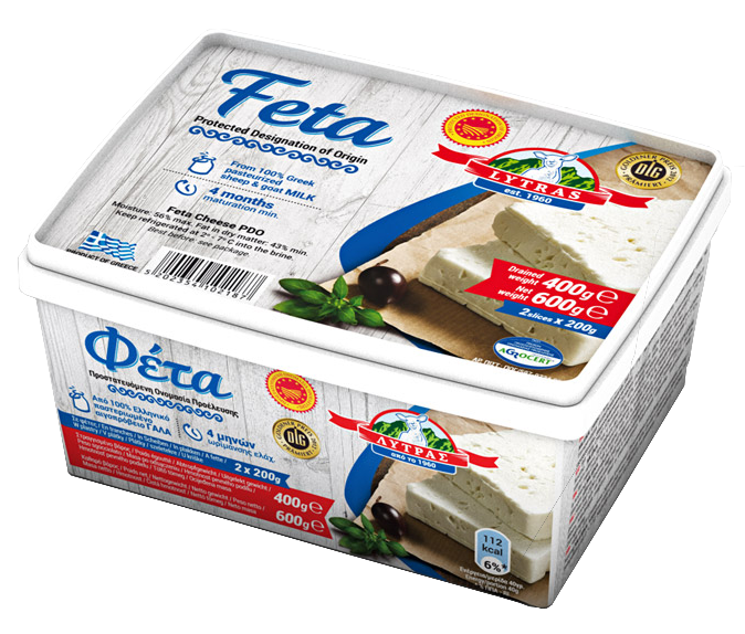 feta lytras slices in brine